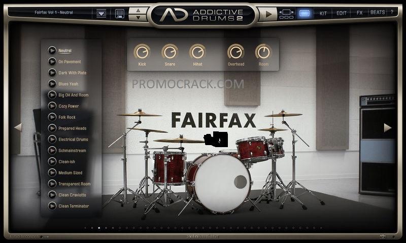 Addictive Drums 2 v2.1.12 Crack + Keygen [Mac/Windows] Download!