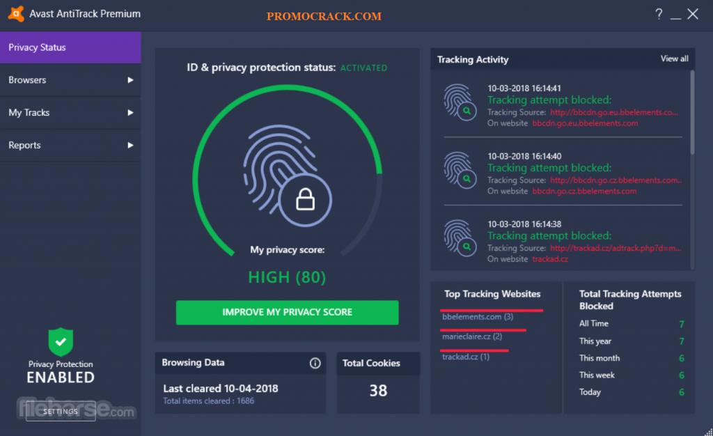 Avast AntiTrack Premium 2.0.0.284 Crack + Activation Code (2021)